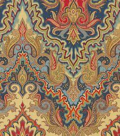 Home Decor Print Fabric Waverly Paisley Verse Jewel