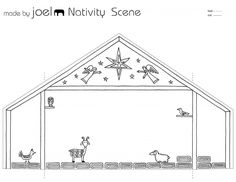 Made by Joel Paper City Nativity Scene Template Kids Craft 1