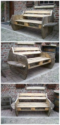 #Garden, #PalletBench, #PalletSofa, #RecyclingWoodPallets, #Reel