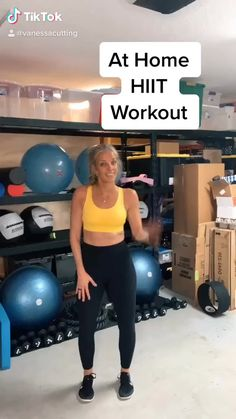 Hiit Workout Videos, Full Body Hiit Workout, Hiit Workout At Home, Gym Workout For Beginners, Gym Workout Tips, Fitness Workout For Women, Fat Burning Workout, Fitness Tips, Workout Bodyweight