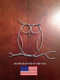 Owl Wall Art Twisted / Sculptured Wire by Owlowishus on Etsy, $3.00