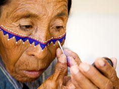 this war paint >> tribal traditional makeup  inspiration