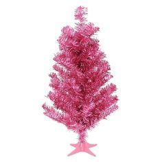 """Christmas Tree Pink Tinsel 24"""" #xmas"""