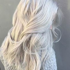 For the next time I go grey/white... Which will probably happen in 2016. Love my white hair.