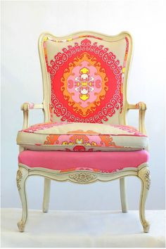 Beautifully Reupholstered chair!