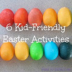 Keep your pint-sized honey-bunny entertained with these easy (and candy free!) #Easter #activities.