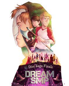 Every saga/arc deserves a movie-like poster : dreamsmp Ymir, My Dream Team, Alien Logo, Saga, Fangirl, My Arts, Artist, Anime, Movie Posters