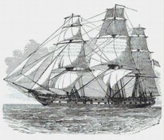 Frigate U.S.S. Constitution Counted Cross Stitch Pattern / Chart,  Instant Digital Download   (AP405) Counted Cross Stitch Patterns, Cross Stitch Designs, Uss Constitution, Cross Stitch Pictures, Dmc Floss, Digital Pattern, Cross Stitching, Sailing Ships, Needlepoint