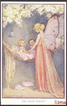 Margaret Tarrant postcard  ......which Fairy is taking care of you my sweet darling Vylette? Enjoying all the joys your Mommy should be having.....we miss you sweetheart