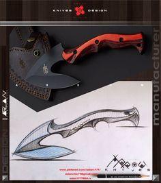 Angry knives / mini fix ax knives / Knives & Design / design Aslan Zhanabayev