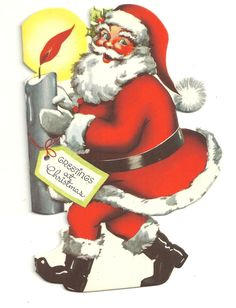 Modern Santa Claus with Candle