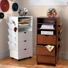 3 Drawer Cart with Shelves - Sewing & Craft Room Storage Ideas
