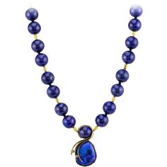 Pre-owned Lightning Ridge Opal Lapis Gold Drop Necklace ($35,400) ❤ liked on Polyvore featuring jewelry, necklaces, drop necklaces, gold chain necklace, drop necklace, necklaces & pendants, cross necklace and kaleidoscope necklace