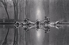 """Michael Kenna, """"Chariot of Apollo, Study 1"""", Versailles, France, 1988"""