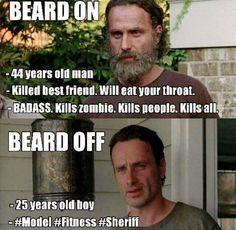 I prefer the beard.