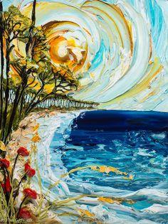 "30""x40"" Coastal Series - Artist, Justin Gaffrey"