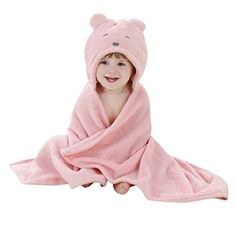 Luxuriously Soft Kids Fleece Bathrobe Animal Hoodie Design for 1 Years to 4 Years Old Kids and Baby Spa Robe (3-4 YRS OLD, Bunny)