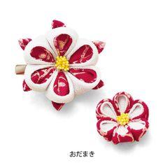 四季折々つまみ細工のお花の会 / おだまき ◆ CHIRIMEN work - seasonal flowers / columbine