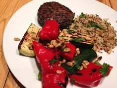 Burger with Griddled Veg » The Blood Sugar Diet by Michael Mosley