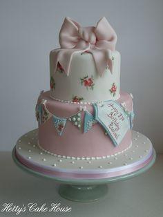 Cath Kidston style 2 tier cake @ Hettys Cake House