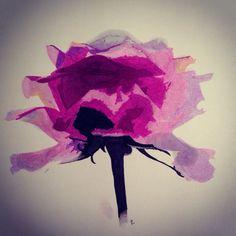 Pink rose, promarkers, art #tellendesign
