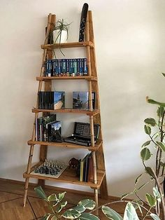 Now here we are with an idea to store the books in an organized way and the upcycled wood pallet ladder decor shelving is great for placing the decoration pieces as well to make the area impressive with the unique items used for decoration which is created with hand and the idea in mind.