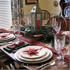 CONFESSIONS OF A PLATE ADDICT My Starry Burlap and Plaid Christmas Tablescape