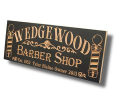 Barber Shop Sign Personalized Man Cave by BenchMarkCustomSigns
