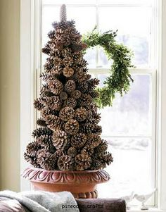 giant pine cone christmas tree