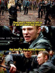 The 100 - Bellamy & Clarke #1.10 <<<<>>>> don't touch his princess yo