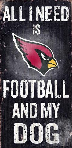 """Arizona Cardinals Wood Sign - Football and Dog 6""""""""x12"""""""" Z157-7846003853"""