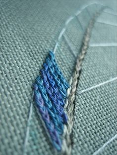 Feather embroidery by pardalotebeads, via Flickr
