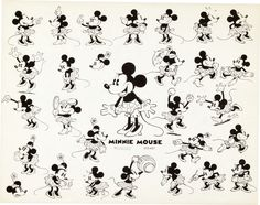 Image of Mickey Mouse and Friends Studio Model Sheet Group (Walt | Lot #95206 | Heritage Auctions