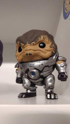 Grunt - Funko Pop - Added some blue detail Mass Effect Collection, Mass Effect 2, Funko Pop, Lion Sculpture, Nerd, Fan Art, Statue, Detail, Blue