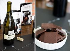 Chalkboard take on a Wine & Lindt Chocolate Pairing party from @siftandwhisk