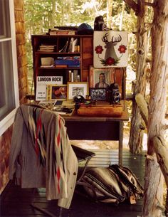 Bruce Weber's office cabin.   - TownandCountryMag.com