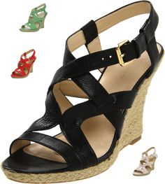 Nine West Women's Showntell Wedge Sandal. Other colors available. $85.00 ~ The Stilush Team