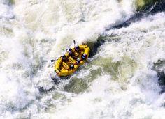 White water rafting in the Zambezi River between Zimbabwe and Zambia Zimbabwe, Travel Planner, Travel List, Adventure Bucket List, Adventure Travel, Chutes Victoria, National Geographic Adventure, Whitewater Rafting, Victoria Falls