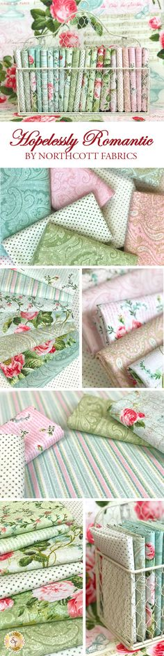 Hopelessly Romantic by Deborah Edwards for Northcott Fabrics is a beautiful floral fabric collection available at Shabby Fabrics