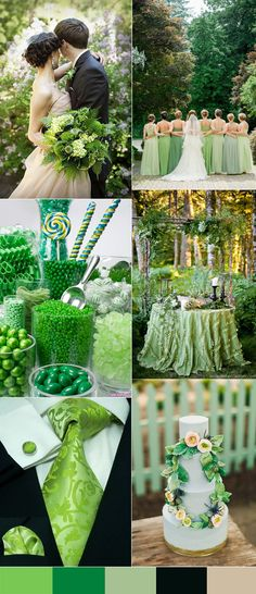green wedding colors for 2016 spring weddings