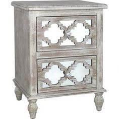 Hampton Mirrored 2-Drawer Side Table