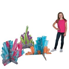 Complete your VBS or Sunday School Cave Adventure theme with these colorful Cave Crystal Stand-Ups! Whether you're creating your own cave scene or.
