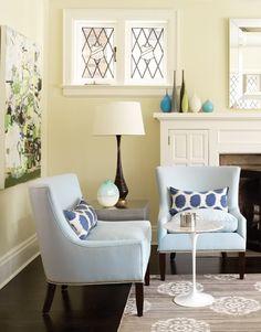 Madeline Weinrib Platinum Mandala Cotton Carpet and Blue Mu bolsters.