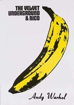 The Velvet Underground and Nico -Andy Warhol Poster Pop Posters, Band Posters, Poster Prints, Wall Prints, Art Print, Andy Warhol Banana, Andy Warhol Pop Art, Andy Warhol Prints, Hippie Posters