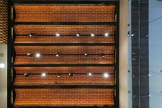 vaulted ceiling malleability of the brick pattern clay tiles used to clad the vaulted ceiling gives a rustic feel Clay Tiles, Brick Patterns, Rustic Feel, Vaulting, Blinds, Ceiling, Contemporary, Interior Design, Architecture