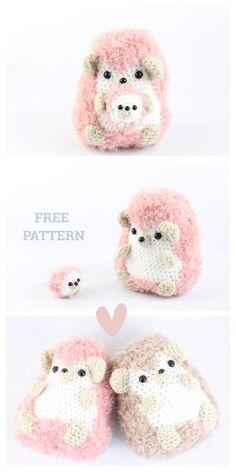 Crochet Hedgehog Punk Plush Toy Amigurumi Free Patterns - - Knitting for beginners,Knitting patterns,Knitting projects,Knitting cowl,Knitting blanket Chat Crochet, Crochet Mignon, Crochet Diy, Crochet Crafts, Crochet Projects, Crochet Stitch, Yarn Crafts, Crochet Animal Patterns, Stuffed Animal Patterns