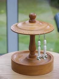 Image result for wood earring stands