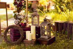wedding decor wedding photo rustic decor marsala colours lights flowers ceremony свадьба, оформление свадьбы, свадебный декоратор, свечи, фонари, рустик, марсала