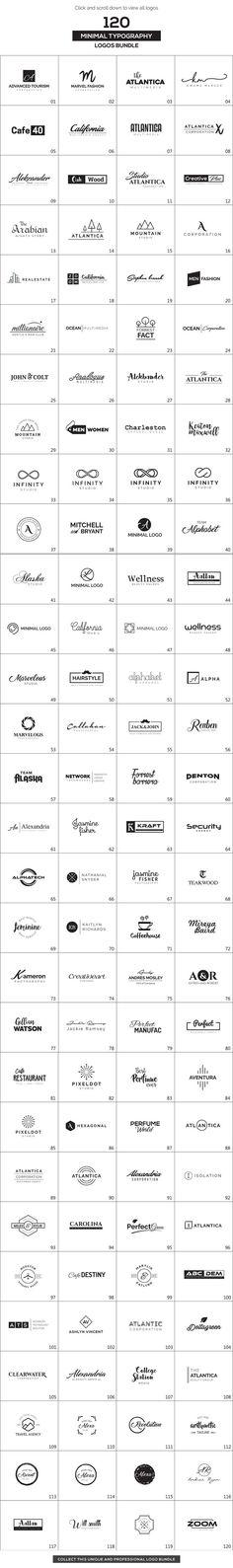 120 minimalist logos in one big bundle.