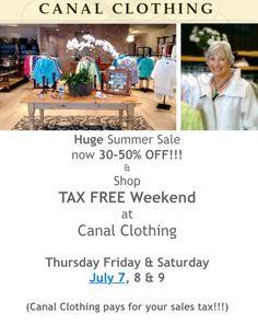 Summer Sale at Canal Clothing!!!